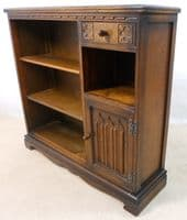 Antique Style Oak Bookcase Cabinet by Old Charm - SOLD